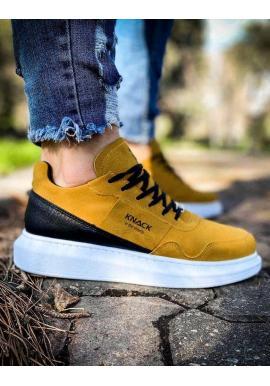 Žlté športové Sneakersy na vysokej podrážke pre pánov