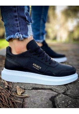 Pánske športové Sneakersy na vysokej podrážke v čiernej farbe