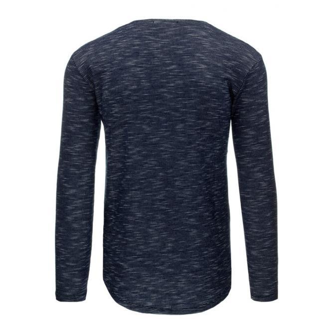 Štýlovo roztrhaný čierny sveter pre pánov