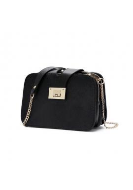 Dámska elegantná kabelka z ekokože v čiernej farbe
