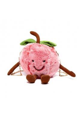 Dámska plyšová kabelka v tvare jablka