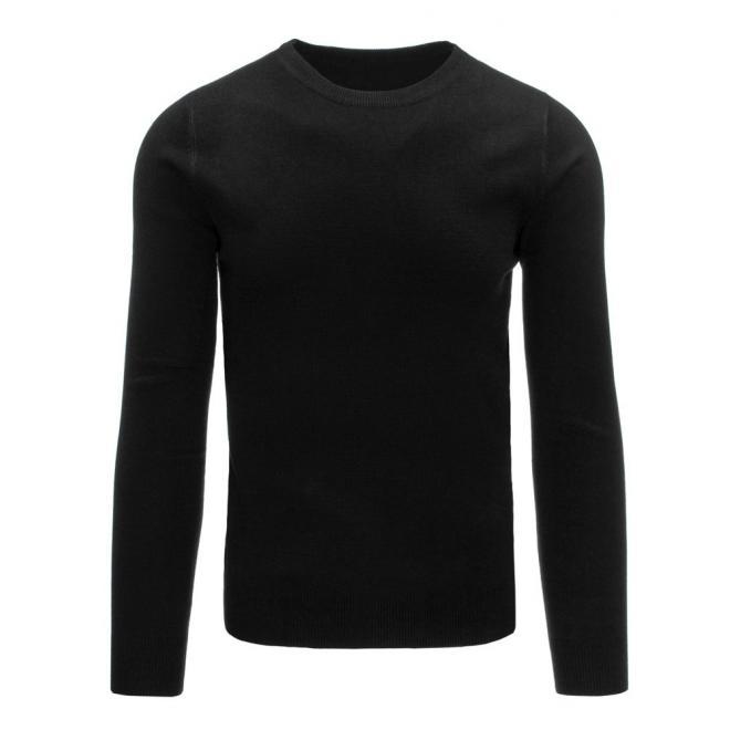 Sivý pánsky sveter so širokými pásikmi