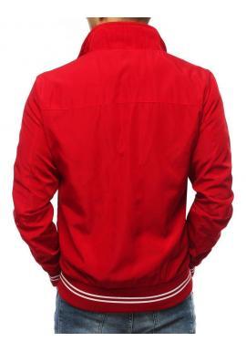 Červená prechodná bunda bez kapucne pre pánov
