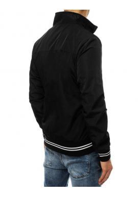 Prechodná pánska bunda čiernej farby bez kapucne