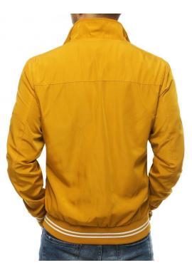 Žltá prechodná bunda bez kapucne pre pánov