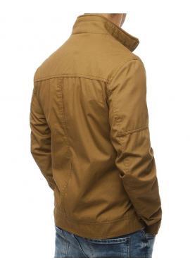 Prechodná pánska bunda hnedej farby bez kapucne