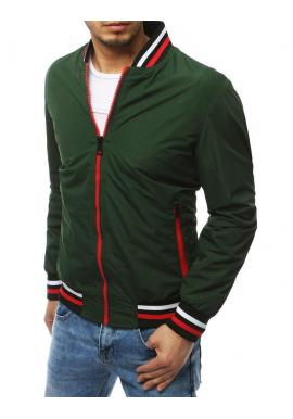 Prechodná pánska bunda zelenej farby bez kapucne