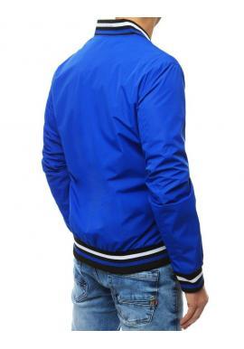 Pánske prechodné bundy bez kapucne v modrej farbe