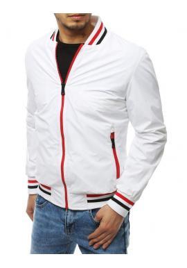 Biela prechodná bunda bez kapucne pre pánov