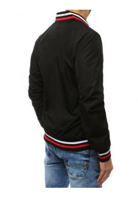 Pánska prechodná bunda bez kapucne v čiernej farbe