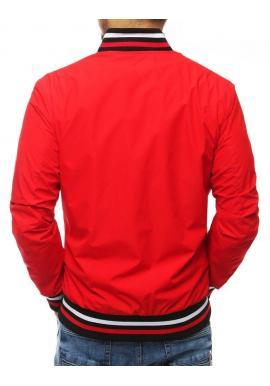 Prechodná pánska bunda červenej farby bez kapucne