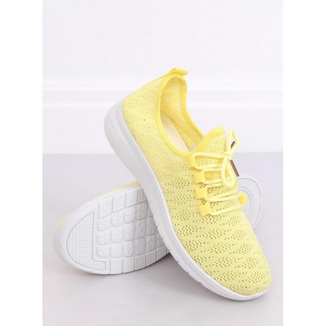 Dámske športové tenisky v žltej farbe