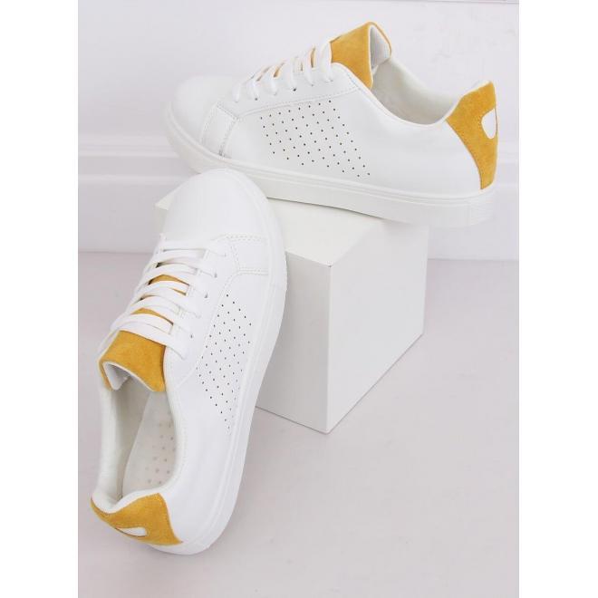 Dámske klasické tenisky v bielo-žltej farbe
