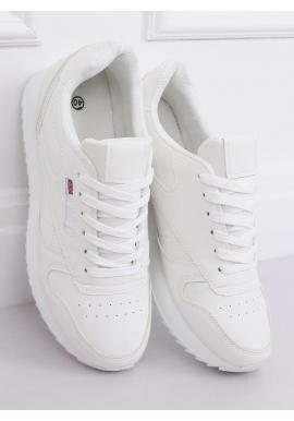 Športové dámske tenisky bielej farby