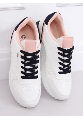 Bielo-ružové športové tenisky pre dámy