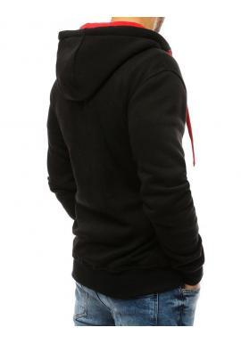 Pánska klasická mikina s kapucňou v čiernej farbe