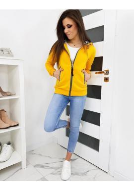 Žltá športová mikina s kapucňou pre dámy