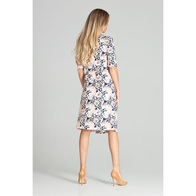 Dámske obálkové šaty s viazaním v páse a s leopardím vzorom