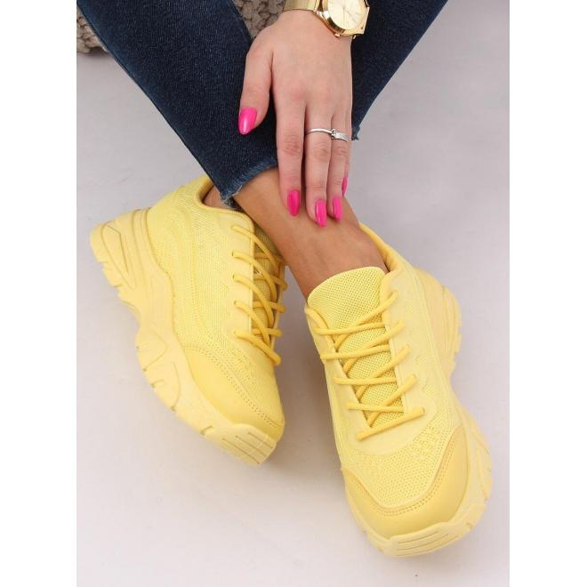 Módne dámske tenisky žltej farby