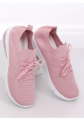Športové dámske tenisky ružovej farby na vysokej podrážke