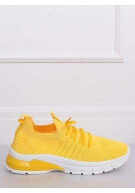 Športové dámske tenisky žltej farby