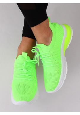 Neónovo zelené športové tenisky pre dámy