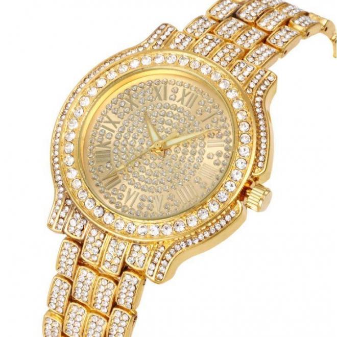 Strieborné štýlové hodinky so zirkónmi pre dámy