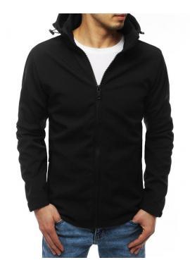 Pánska prechodná bunda s odopínacou kapucňou v čiernej farbe