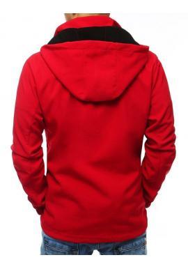 Červená prechodná bunda s odopínacou kapucňou pre pánov