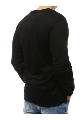 Klasická pánska mikina čiernej farby s potlačou