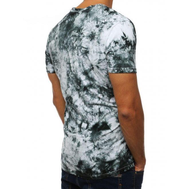 Čierne módne tričko s potlačou pre pánov