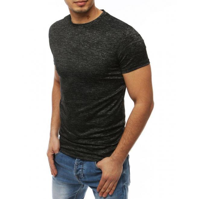 Tmavosivé klasické tričko bez potlače pre pánov