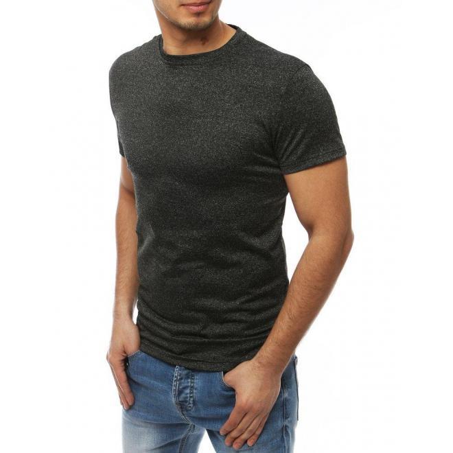Klasické pánske tričko tmavosivej farby bez potlače