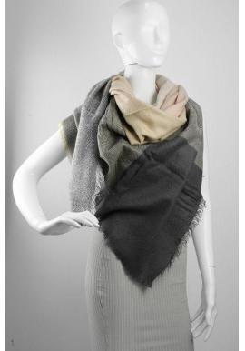 Dámska elegantná šatka so vzorom v sivo-béžovej farbe