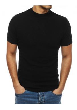Štýlový pánsky sveter čiernej farby s krátkym rukávom