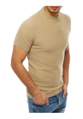 Béžový štýlový sveter s krátkym rukávom pre pánov