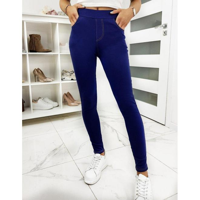 Modré pohodlné nohavice pre dámy