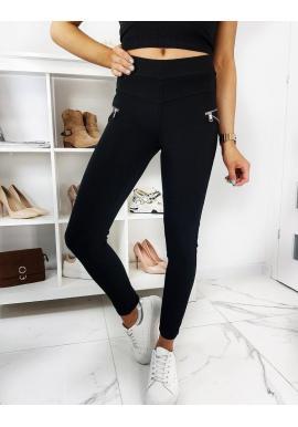 Dámske priliehavé nohavice v čiernej farbe