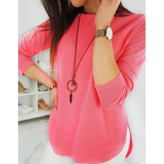 Malinové klasické tričko s dlhým rukávom pre dámy