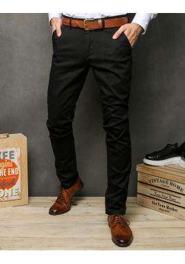 Čierne elegantné nohavice pre pánov