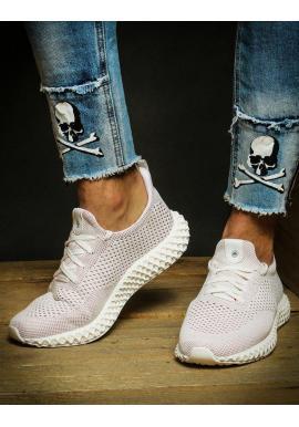Športové pánske Sneakersy bielo-červenej farby