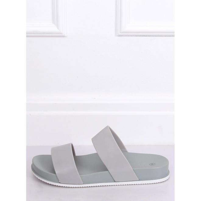 Dámske gumené šľapky na pohodlnej podrážke v sivej farbe