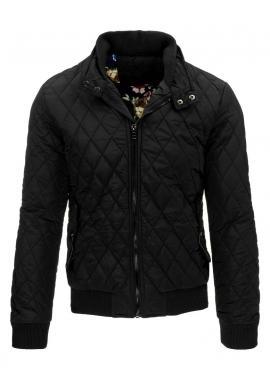 Tmavomodrá zimná bunda Parka pre pánov s kapucňou