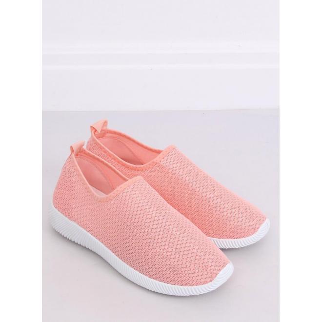 Nazúvacie dámske tenisky ružovej farby s pružnou podrážkou