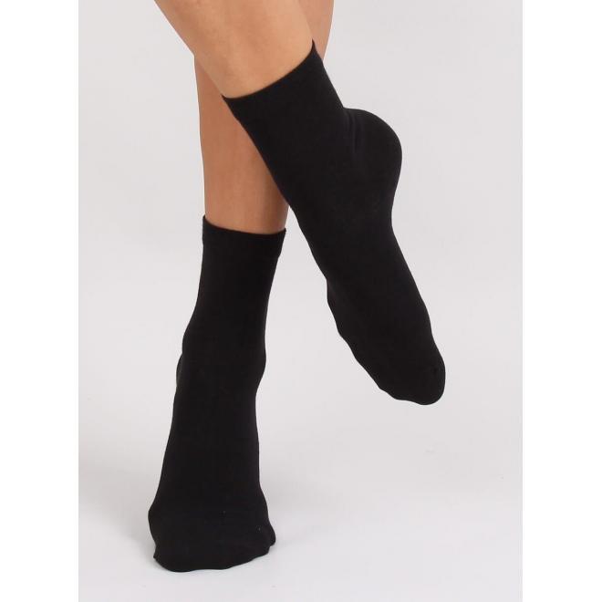 Dámske hladké ponožky v čiernej farbe
