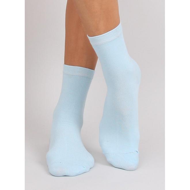 Hladké dámske ponožky svetlomodrej farby