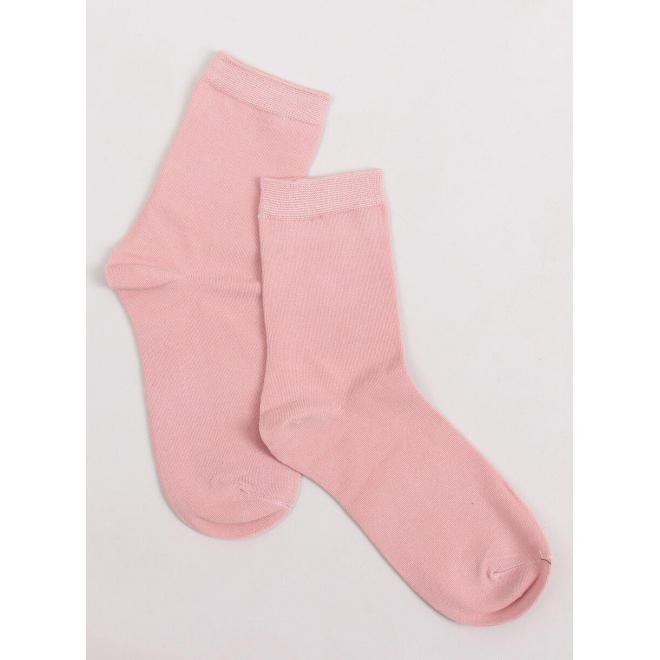Dámske hladké ponožky v ružovej farbe