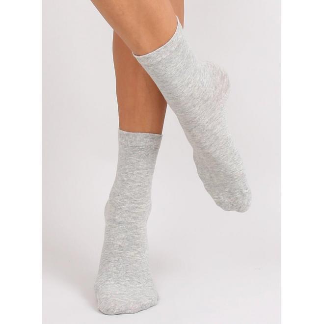 Sivé hladké ponožky pre dámy