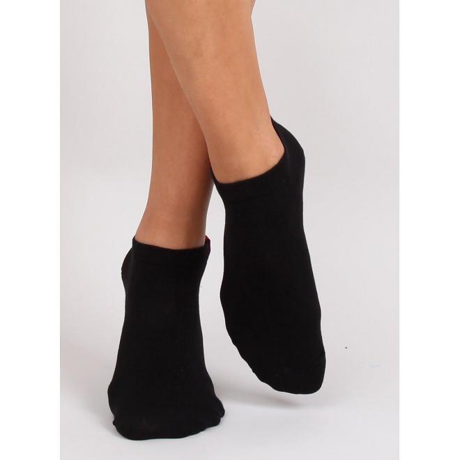 Dámske krátke ponožky v čiernej farbe