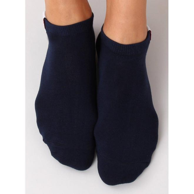 Tmavomodré krátke ponožky pre dámy
